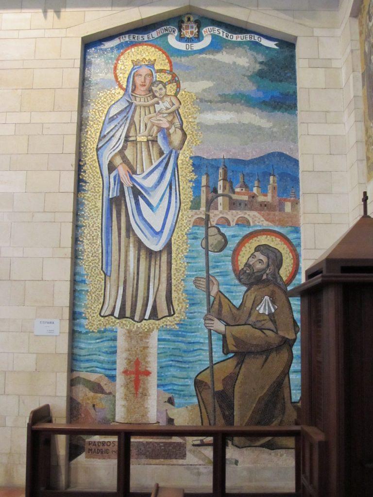 mozaiek in de kerk van de annunciatie Nazareth