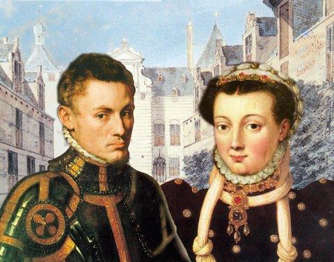 Willem van Oranje met zijn eerste vrouw, Anna van Buren. (Museum Buren en Oranje, Buren)