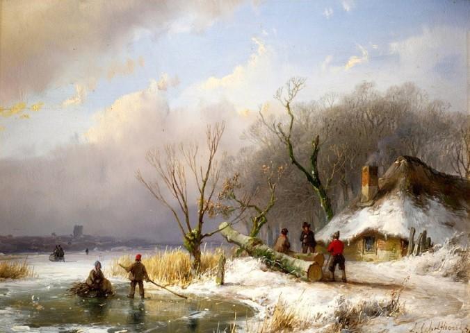 Winterlandschappen van Andreas Schelfhout waren favoriet