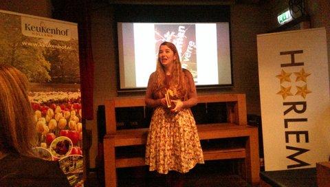 Ann Demeester, directeur Frans Hals Museum, over de tulpomania tijdens presentatie 19 januari in Jopenkerk