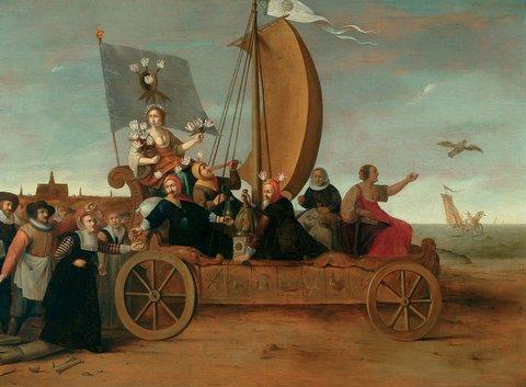 Pot, Flora's Wagon of Fools, Frans Hals Museum, Haarlem