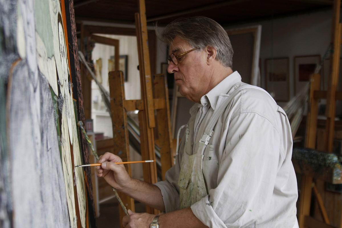 Holocaust: om het lot van zijn opa te schilderen leefde Jeroen Krabbé drie maanden in isolement.©Hans de Bruijn