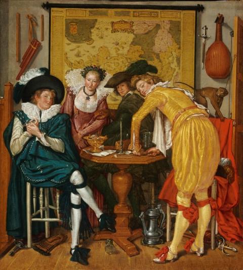 Willem Buytewech, Vrolijk gezelschap, olie op canvas, oil on canvas 72,6 x 65,4 cm, 1620/22