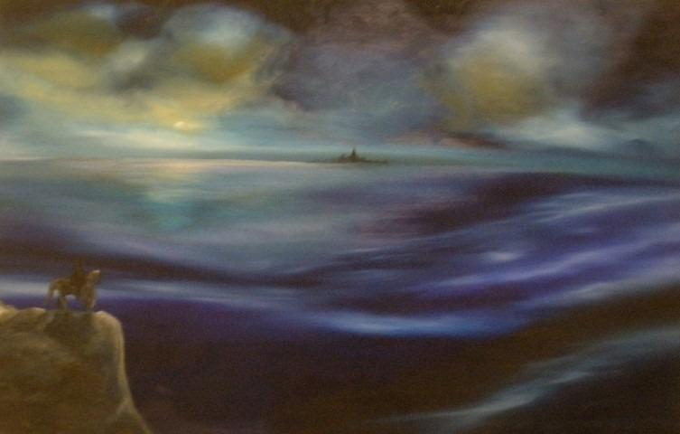 Eenzame ruiter, een werk van Marc Rieu