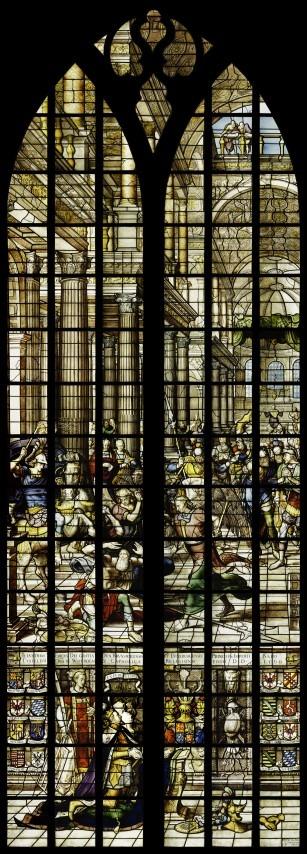 Gouda, de bestraffing van de tempelrover Heliodors. st Janskerk