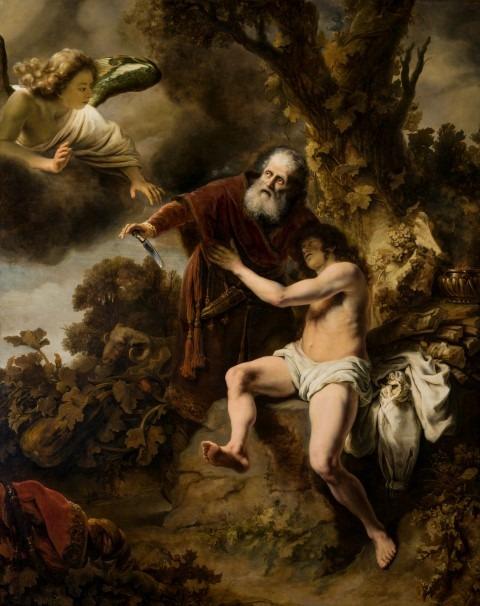 Ferdinand Bol, het offer van Abraham, 1646, doek 268 x 213 cm,, Lucca, Museo Nazionale di Lucca, Palazzo Mansi