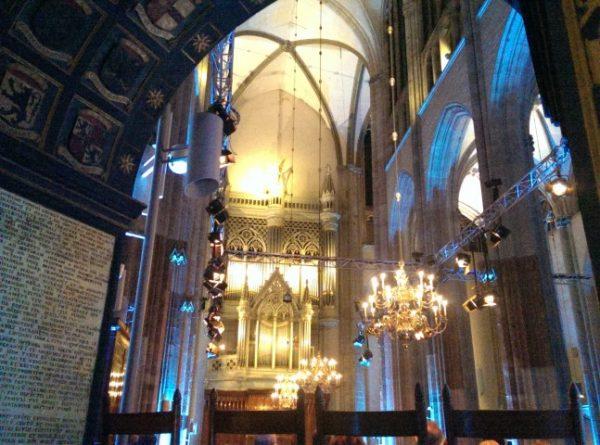 Het Batz-orgel, gefotografeerd vanuit een nis in de Domkerk van Utrecht
