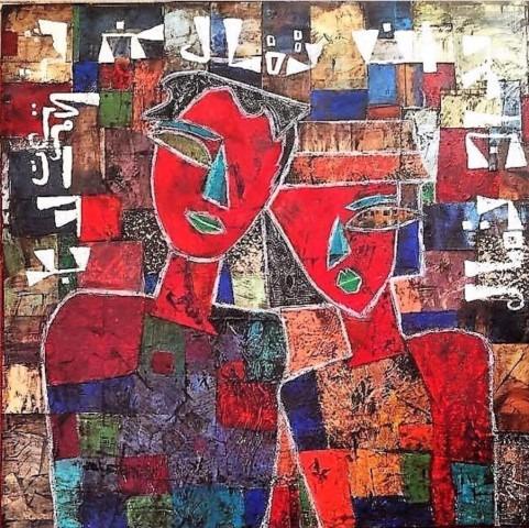 Expositie Vrijheid in Verbondenheid, werk van de Syrische vluchtelinge Lubna Yaseen
