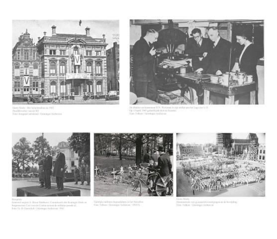Expositie Vrijheid in Verbondenheid, collage van de Bevrijding van Groningen
