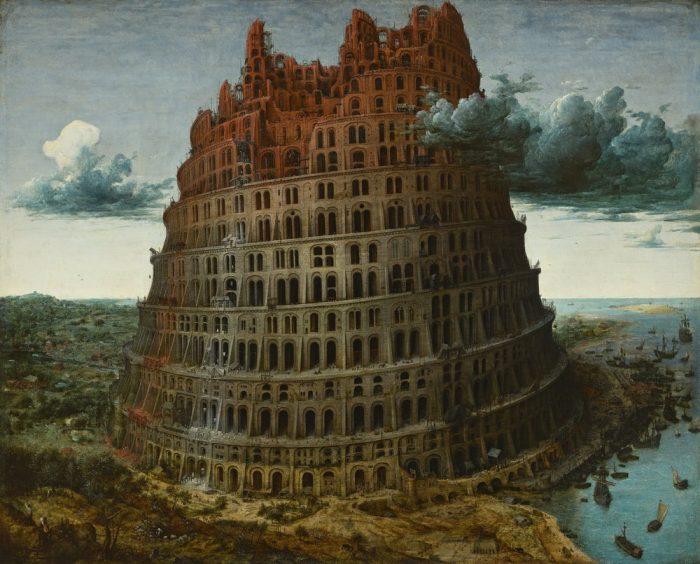 Toren van Babel, Pieter Bruegel, ca 1568, Museum Boijmans van Beuningen. Rotterdam. Verworven met de verzameling van D.G. van Beuningen.