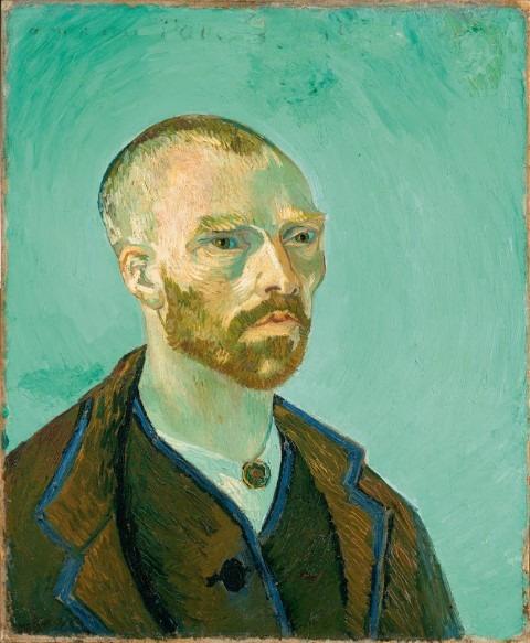 Japanse prenten inspireerden Vincent van Ggh om zichzelf af te beelden als een Japanse monnik.Vincent van Gogh, Zelfportret, 1888, Harvard Art Museums/Fogg Museum, Cambridge, MA, legaat van de collectie van Maurice Wertheim, Class of 1906