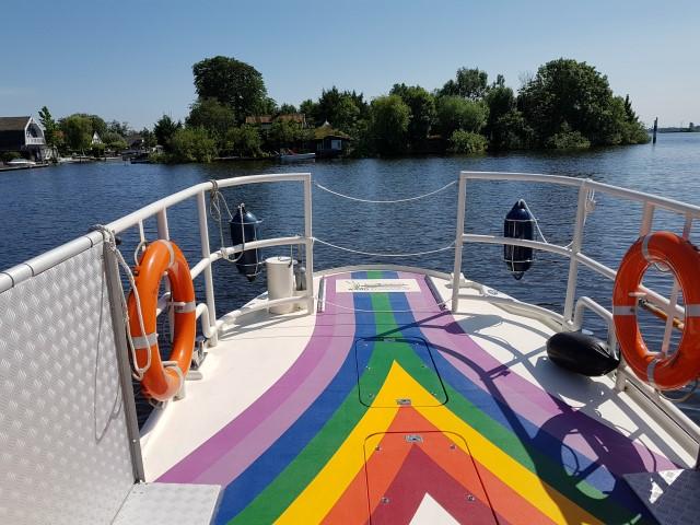 Hollands Plassengebied; fluisterboot van Kaagervaaring