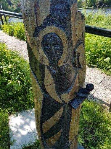 Hollands Plassengebied, De Stal, beeld van Maria met kind