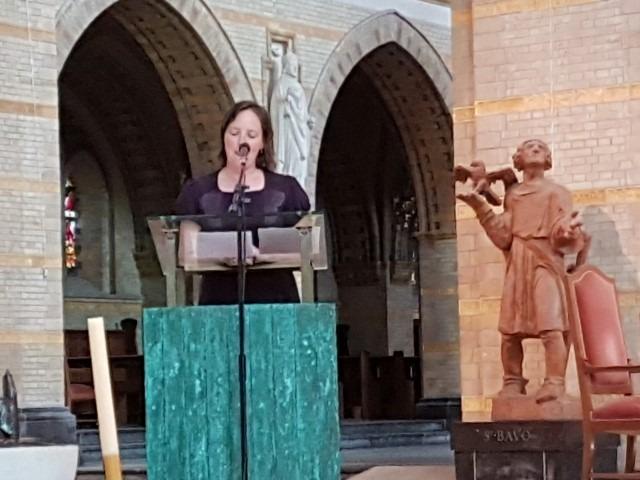 Kathedrale Basiliek sint Bavo, Marieke van Schijndel (directeur Catharijneconvent) aan het woord op 13 juli 2018