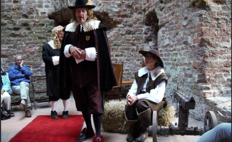 Gouden Eeuwfeest Ruïne van Brederode, Constantijn en Christiaan Huygens