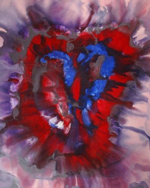 Wasschilderen, Peter de Jongste, Bloedend hart