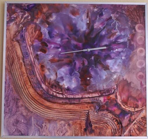 Wasschilderen, clockpainting, Peter de Jongste