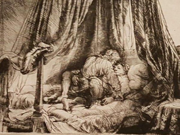 Expositie Alle Rembrandts, Rembrandt van Rijn, in de bedstee