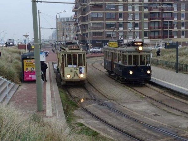 Mobiel erfgoed, Blauwe en Gele tram in Scheveningen