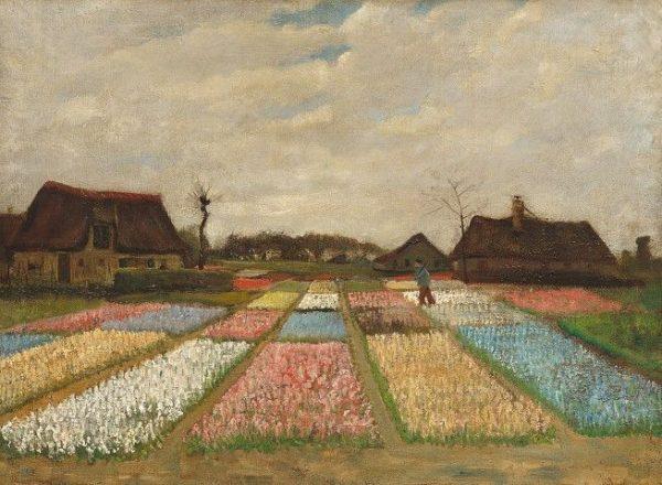 Bollenstreek, de kleurrijke velden, in 1884 voor het eerst geschilderd door Vincent van Gogh, National Art Gallery van Washington